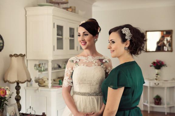 vintage-garden-wedding-bride-bridesmaid