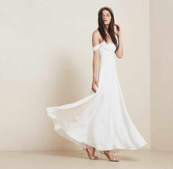 Constance dress by Reformation   Top 5 wedding dresses under $1000