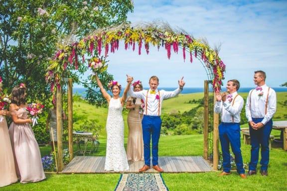 Jess & Nick's Colourful Bush Bank Wedding | Photography by The Evoke Company