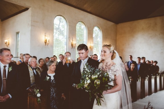 Stones of the Yarra Valley wedding with a mint vintage Chevy! Photography by Motta Weddings