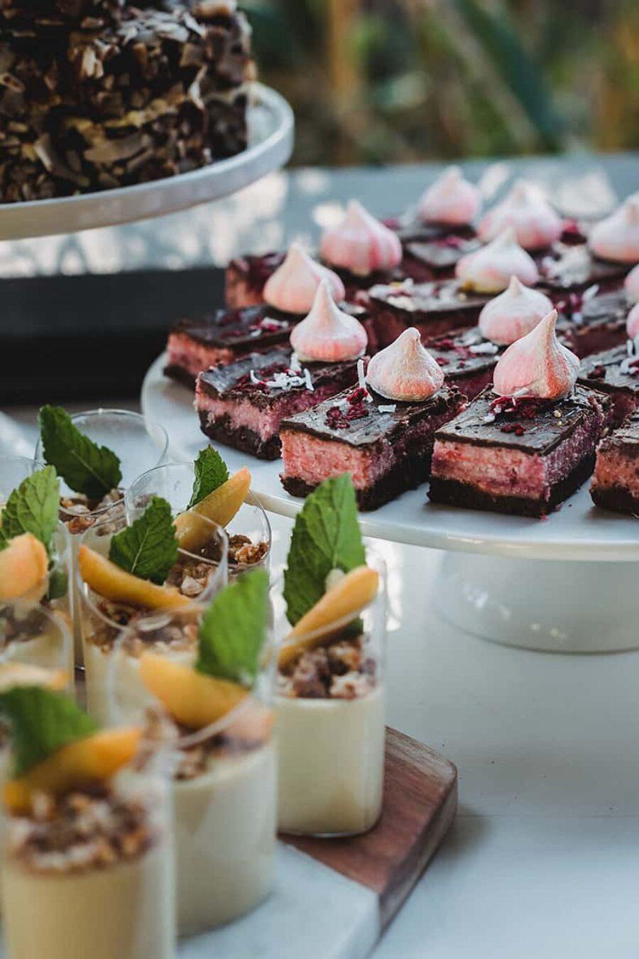 modern wedding dessert table