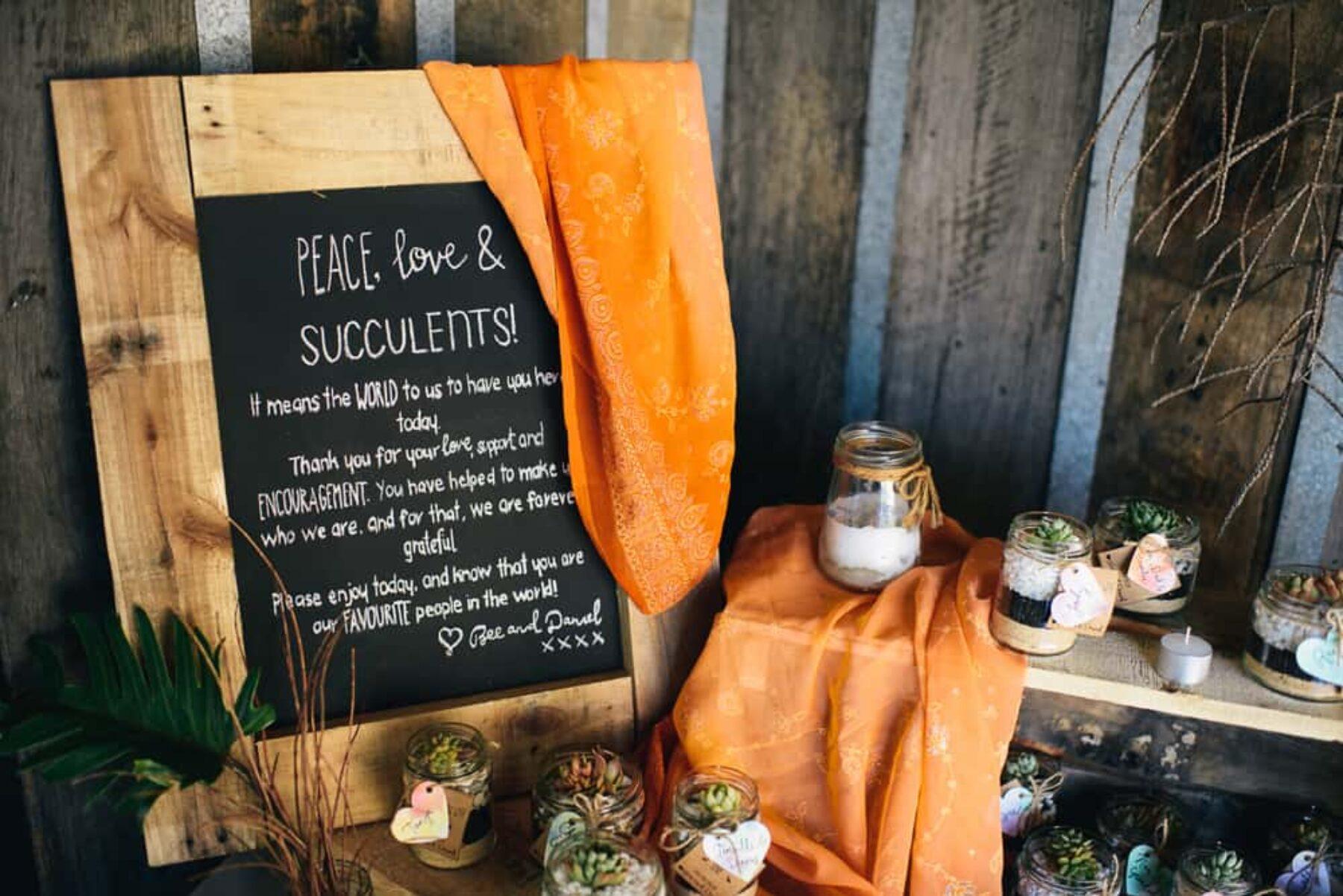 DIY succulent wedding favours