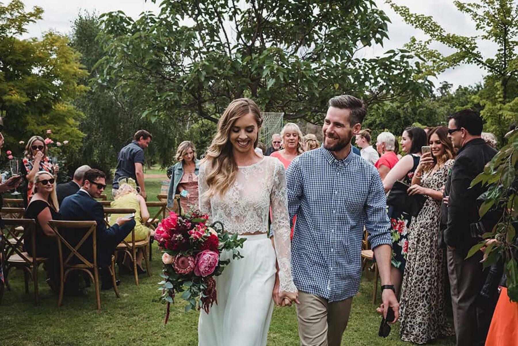Karen Willis Holmes cropped top wedding dress