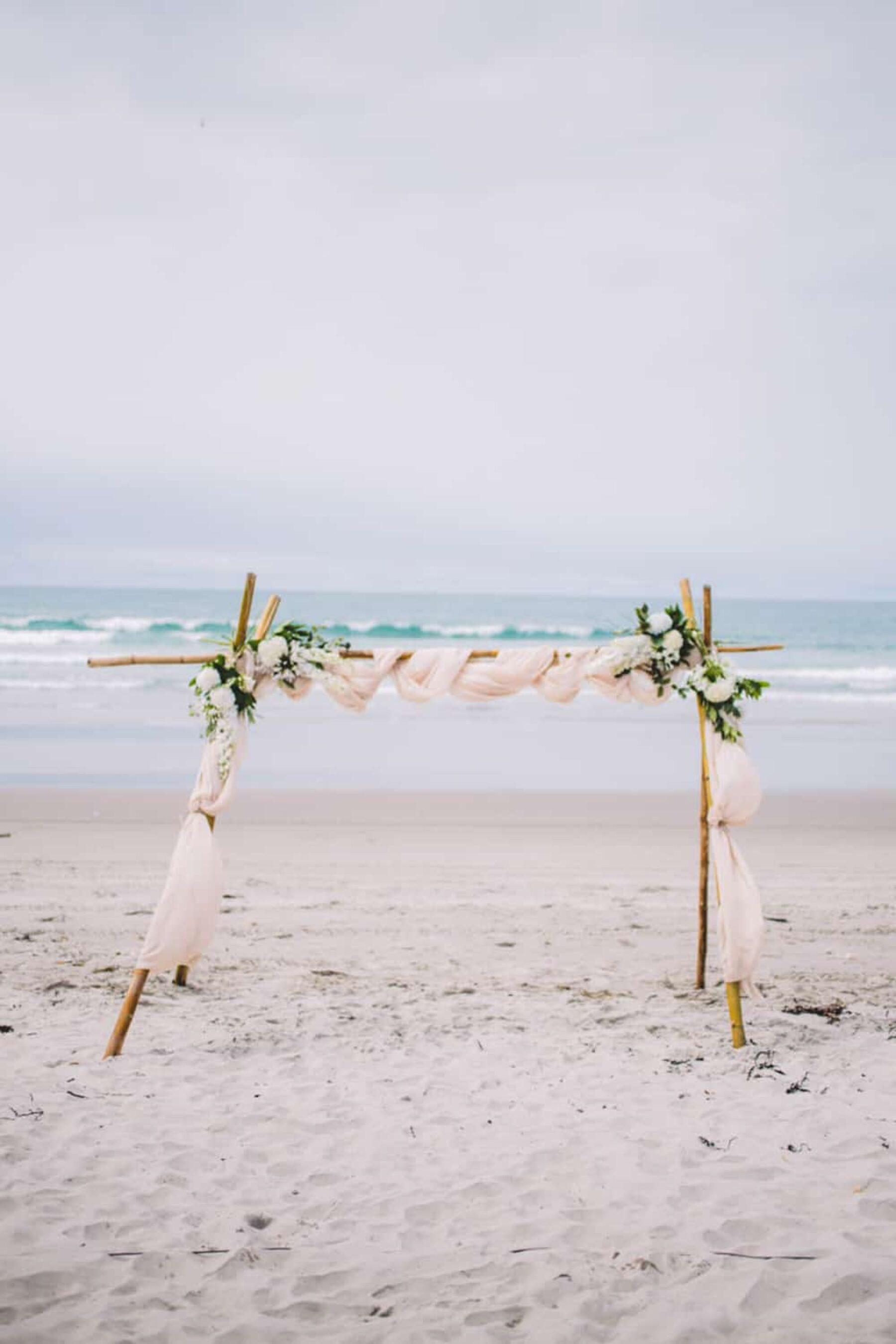 beach wedding Mount Maunganui