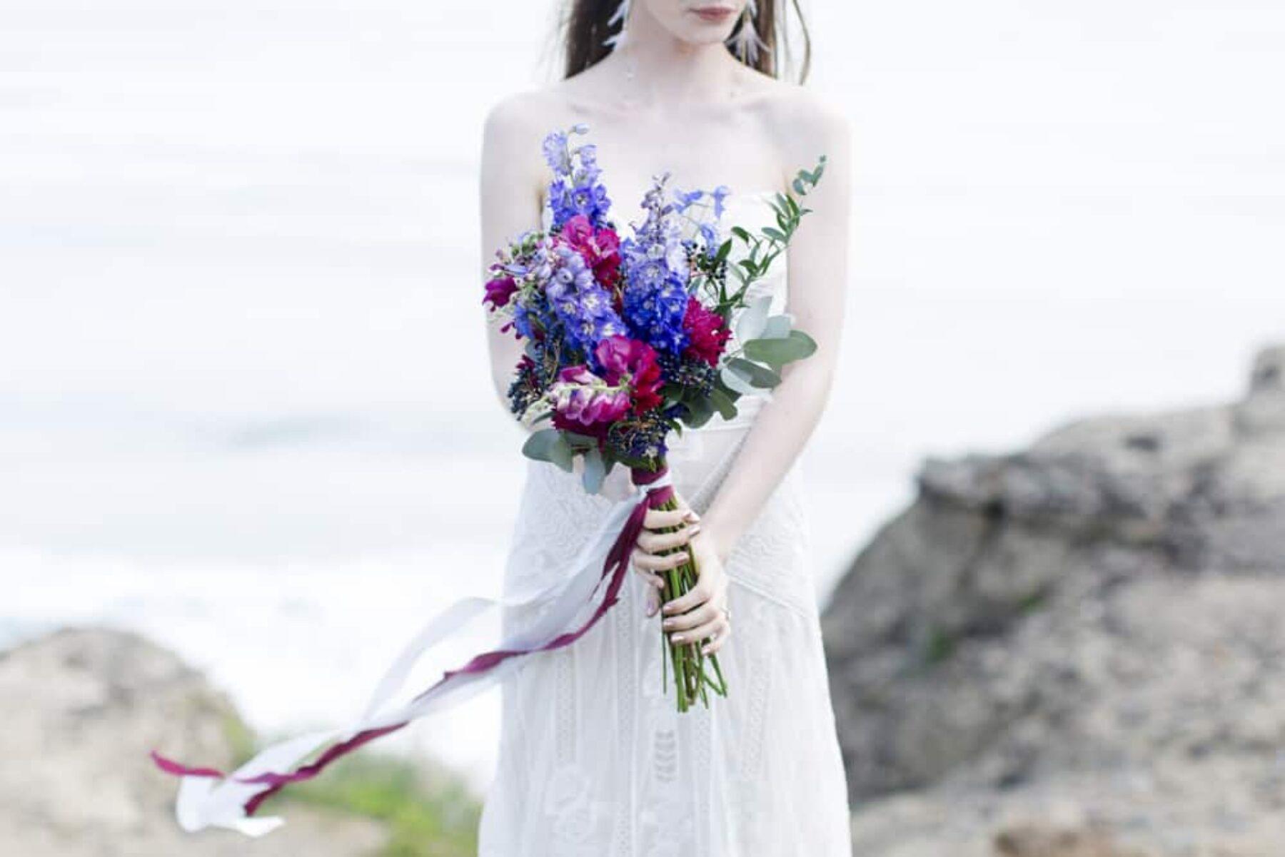 wild jewel-toned bouquet