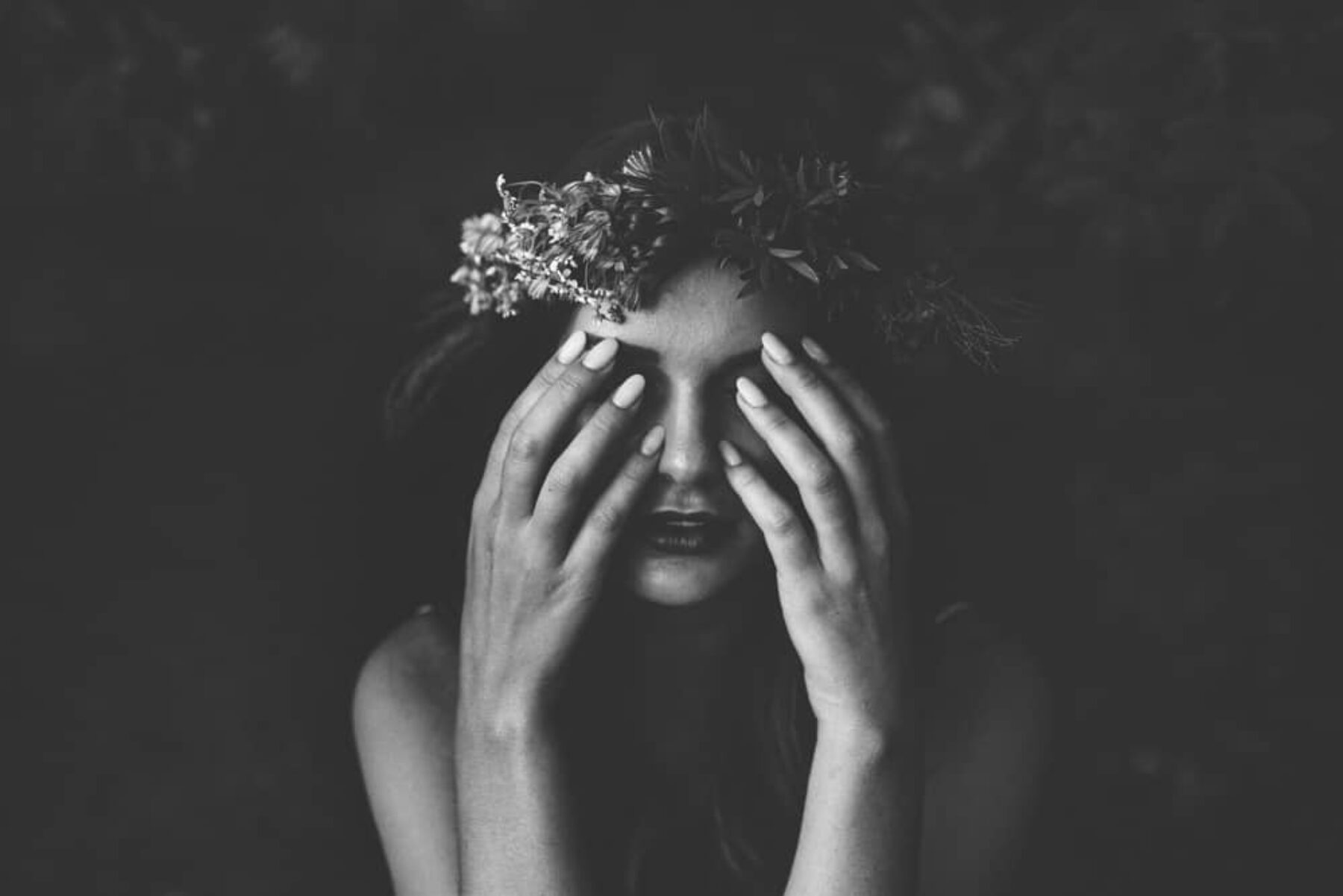 boho bride with flower crown