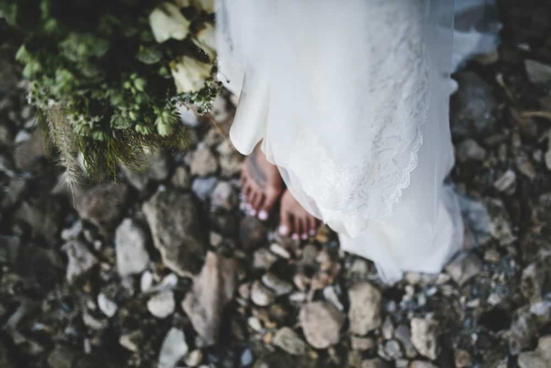 barefooted bride