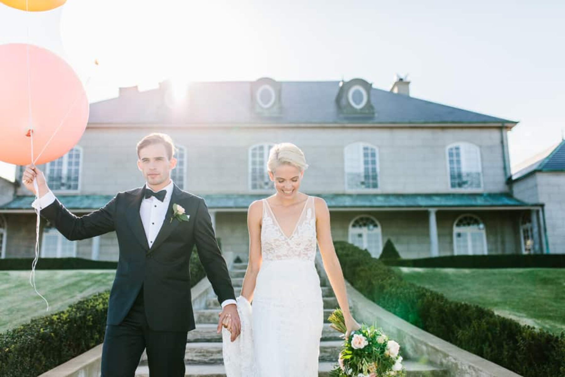 Modern marble and pastel wedding at Campbell Point House