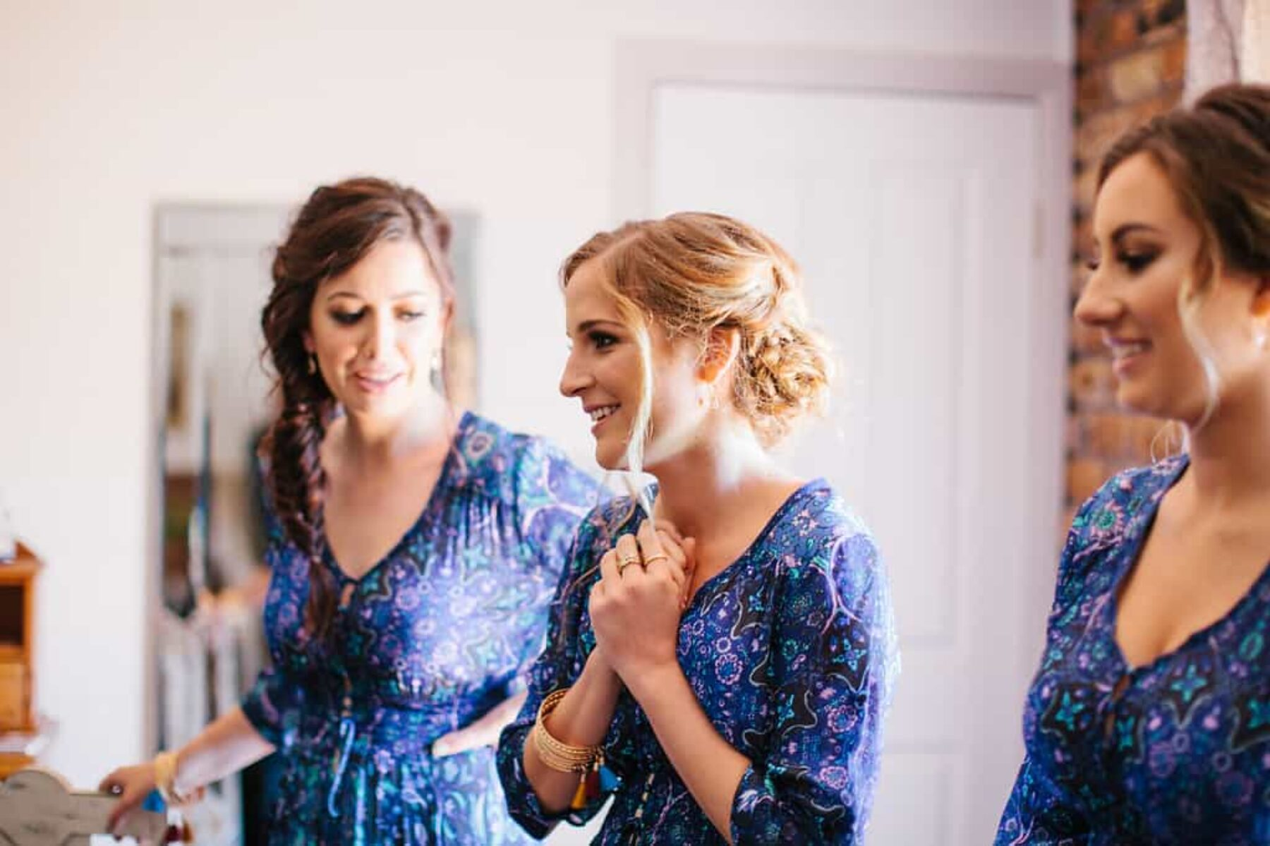 blue bridesmaid dresses by Spell Designs