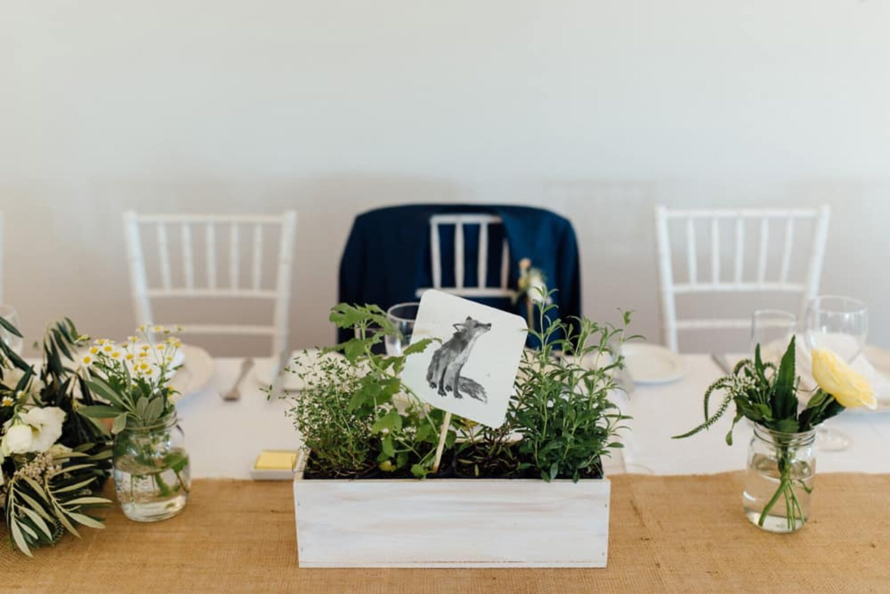 illustrated woodland animals as table numbers