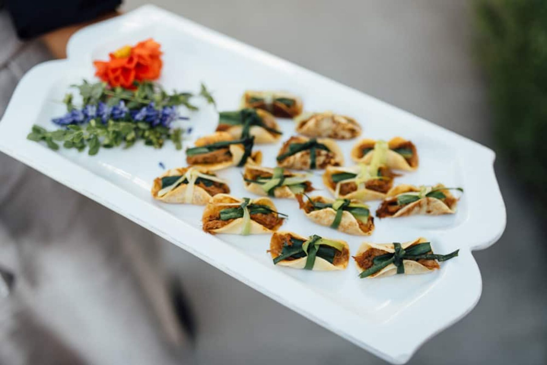 modern wedding cocktail hour canapes
