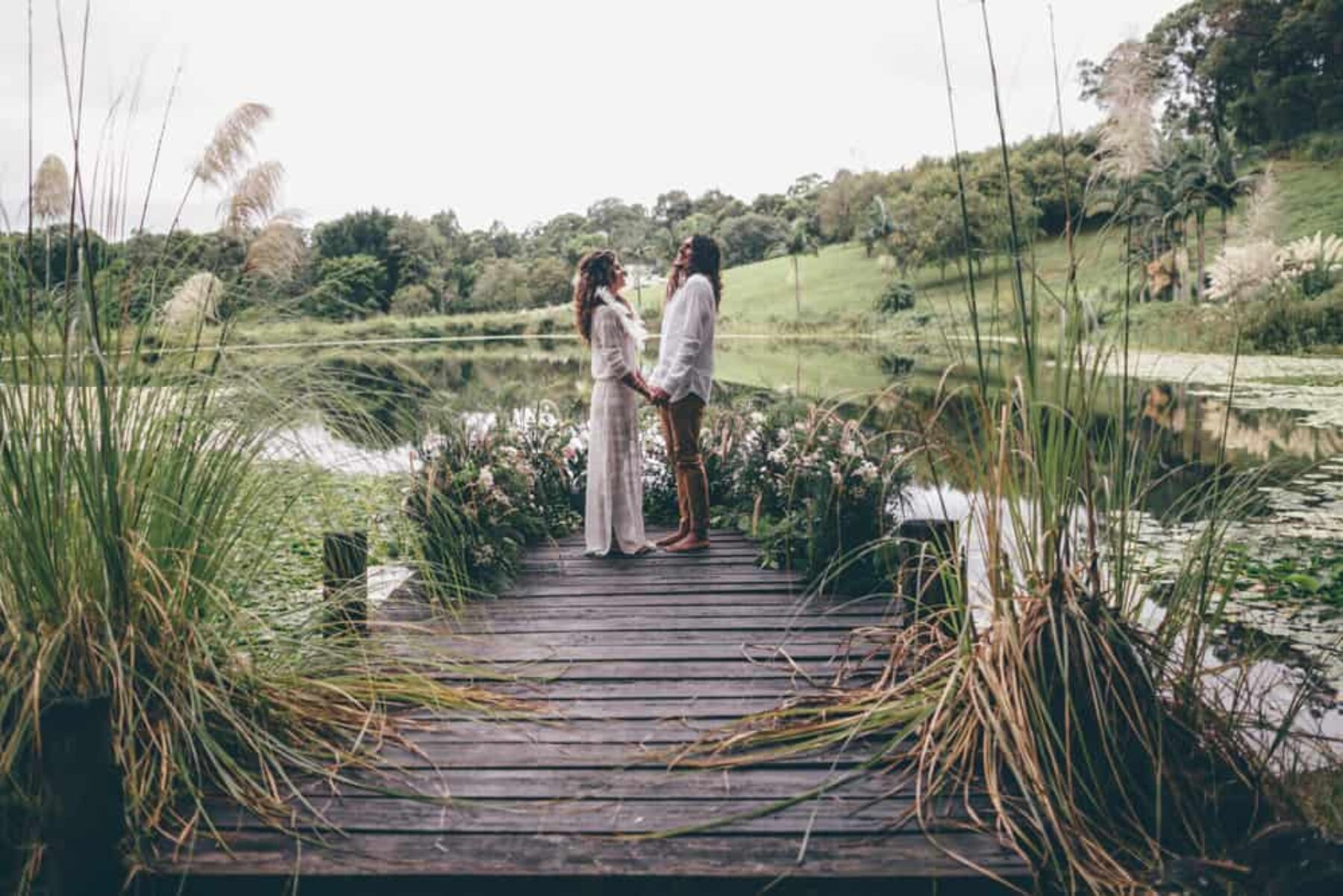 Bohemian camping wedding inspiration with luxury bell tents