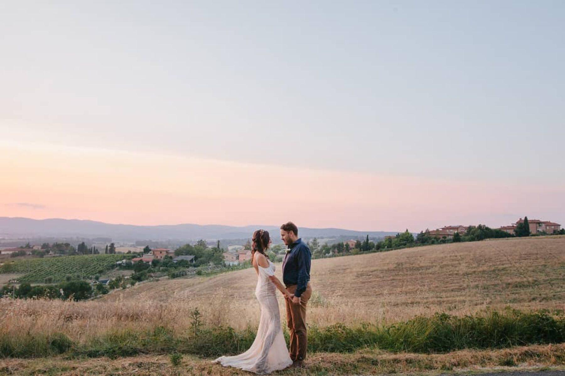 Rustic destination wedding at a Tuscan castle