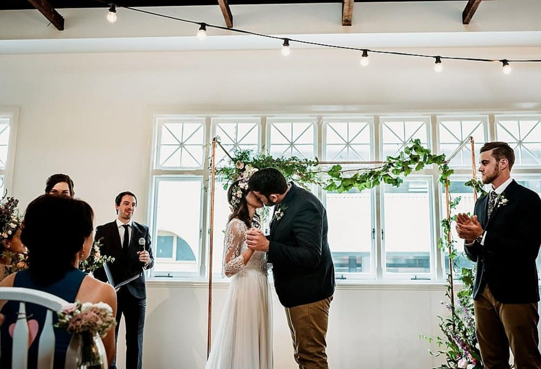 vintage-inspired wedding at The Flour Factory Perth - CJ Williams photography