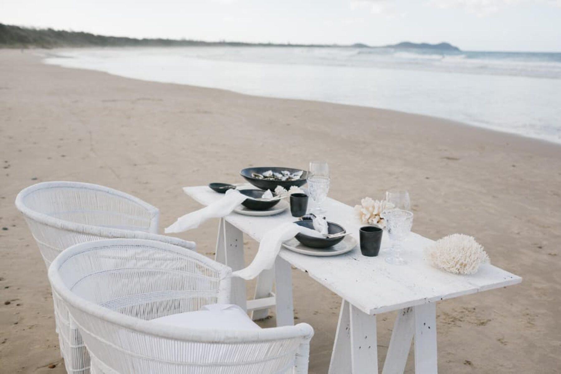 ocean inspired tablescape