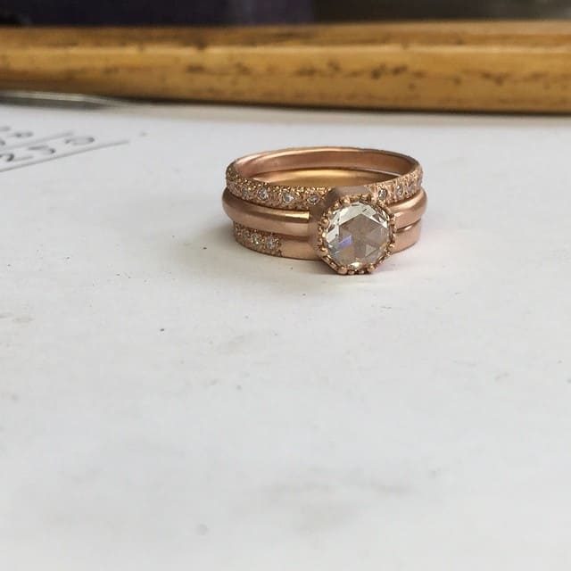 unique handcrafted engagement ring by Melbourne jeweller Suzi Zutic