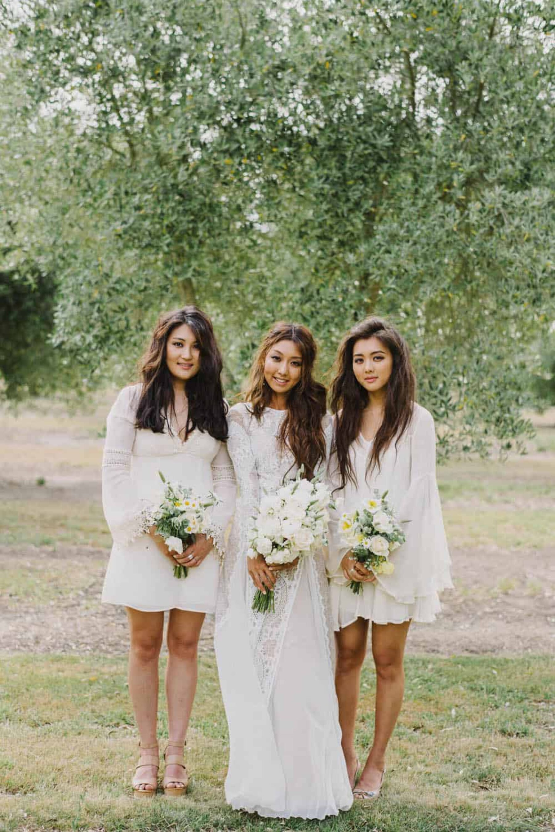 Grace Loves Lace real bride with bridesmaids