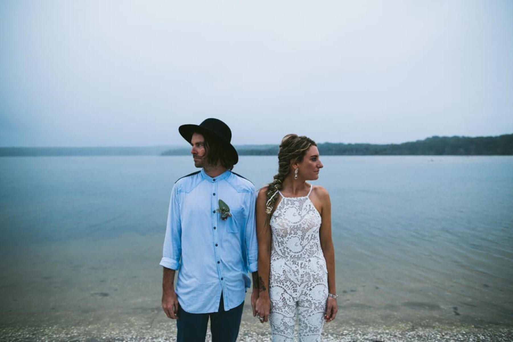 white lace wedding jumpsuit by Stone Cold Fox