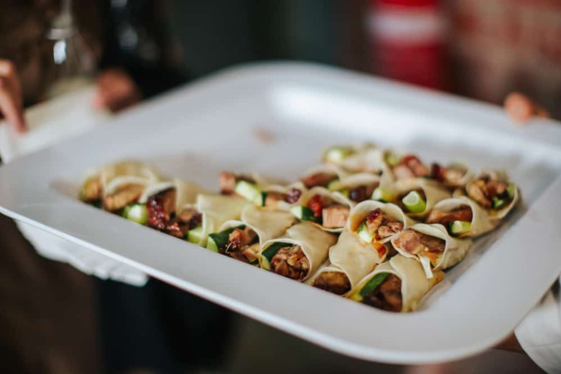 Modern wedding canapes by Cookes Catering Melbourne
