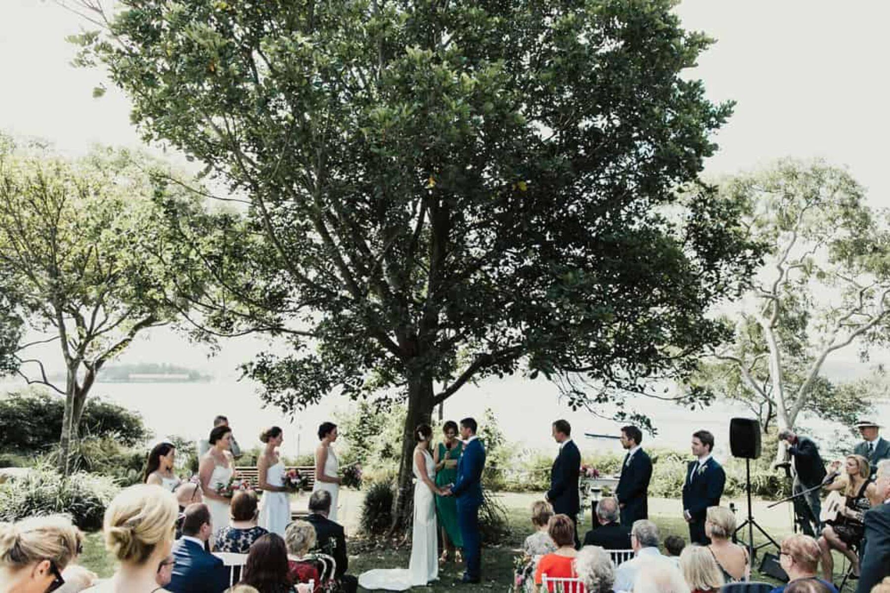 Balmoral garden wedding at McKell Park Sydney