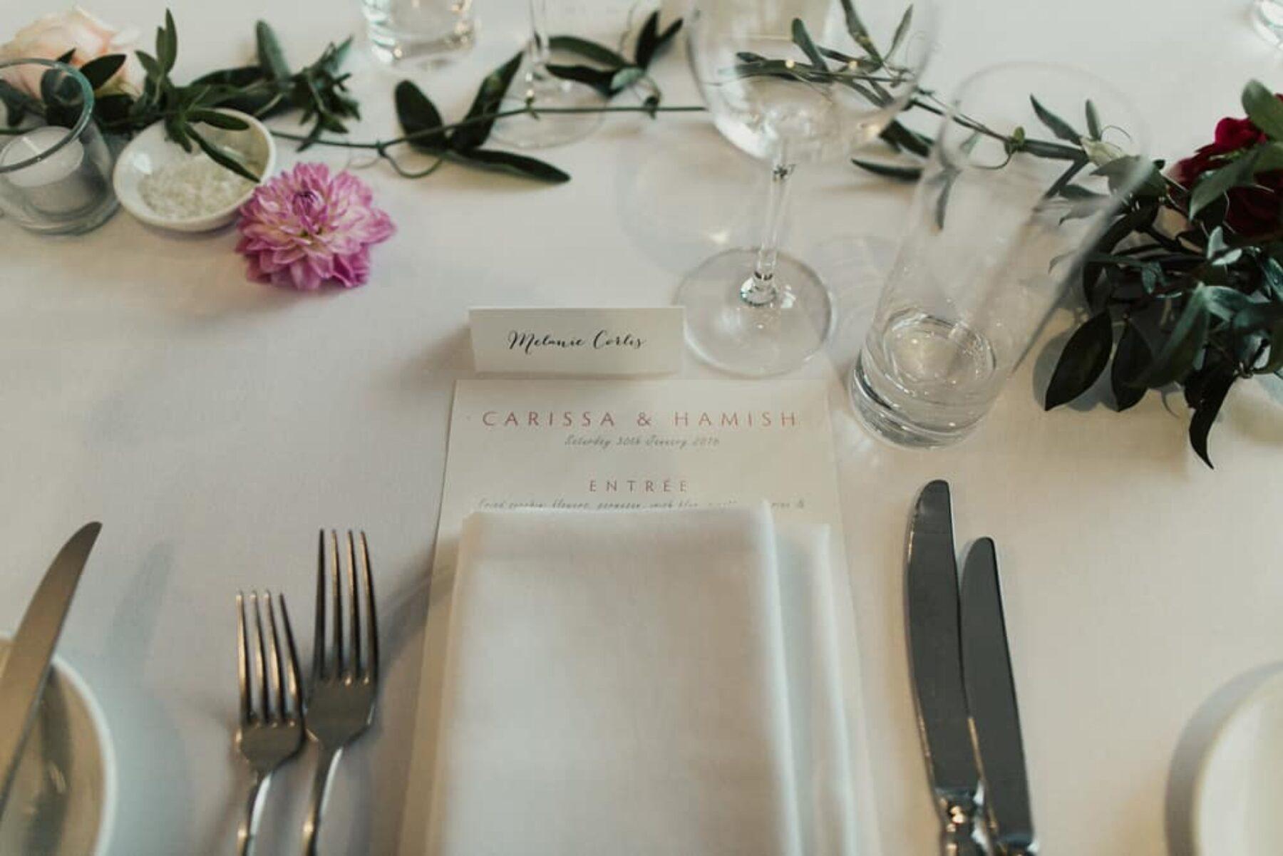 modern Balmoral wedding at Public Dinig Room