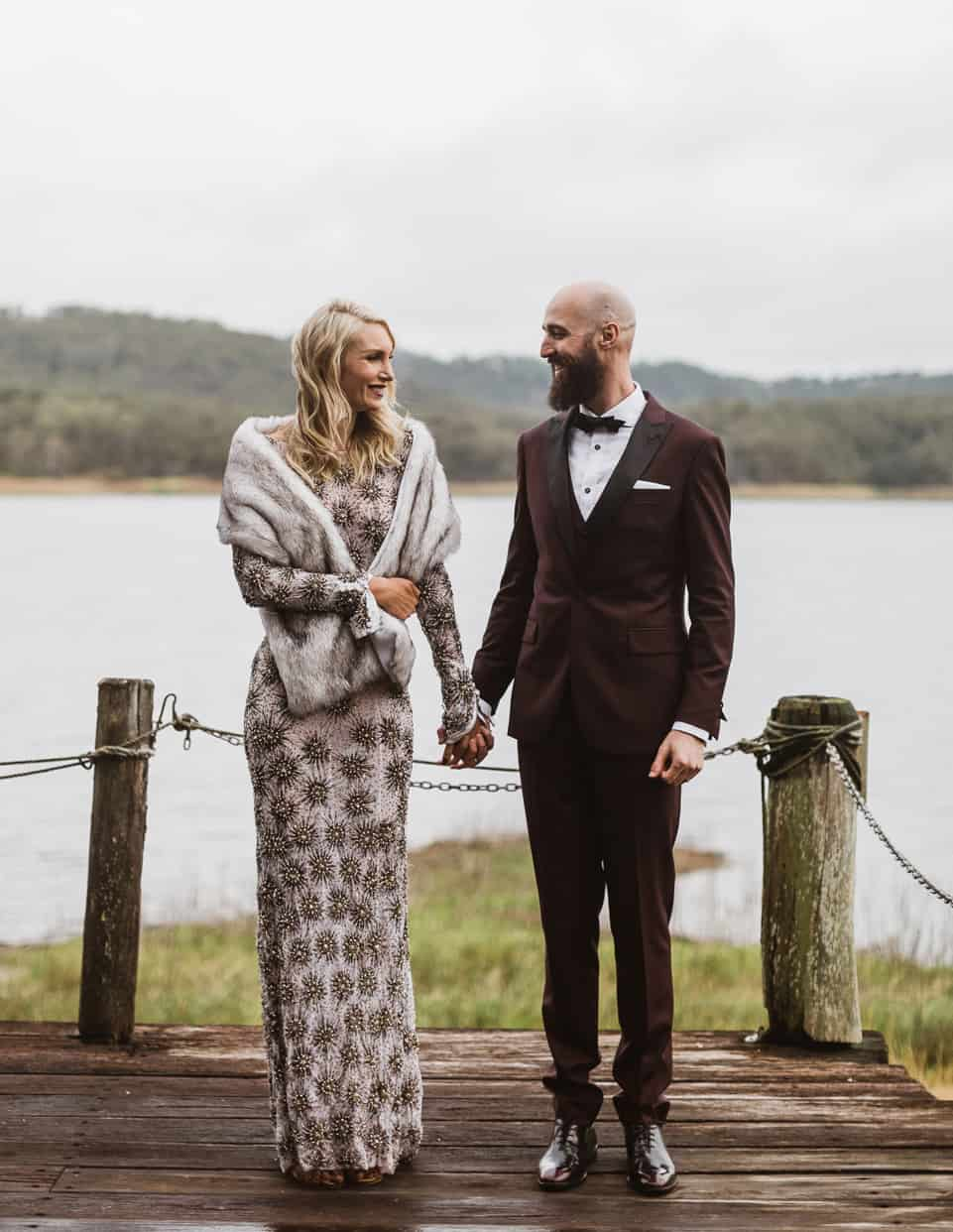 Best groom styles of 2016 - burgundy suit and bow tie