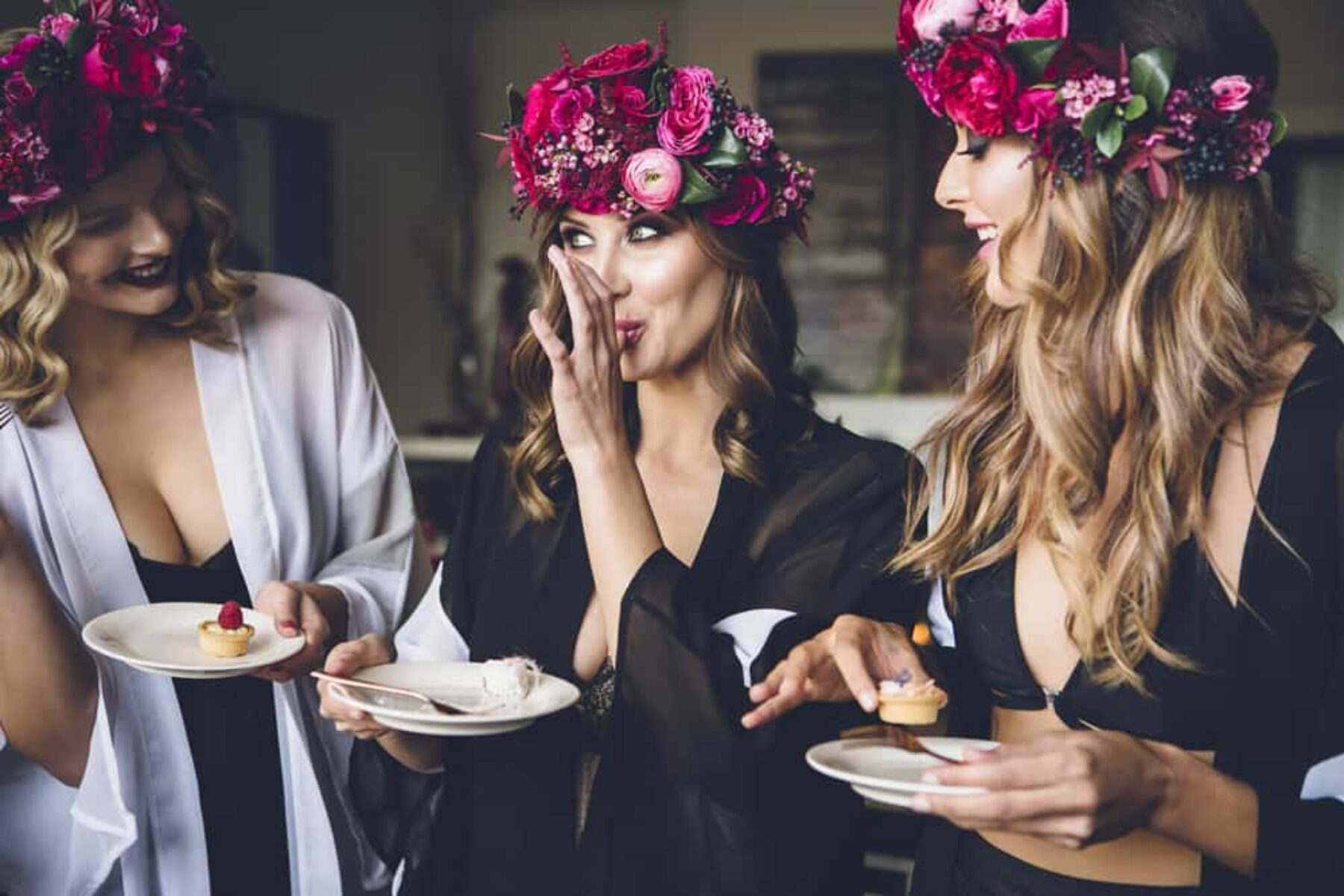 Luxe floral bridesmaid inspiration
