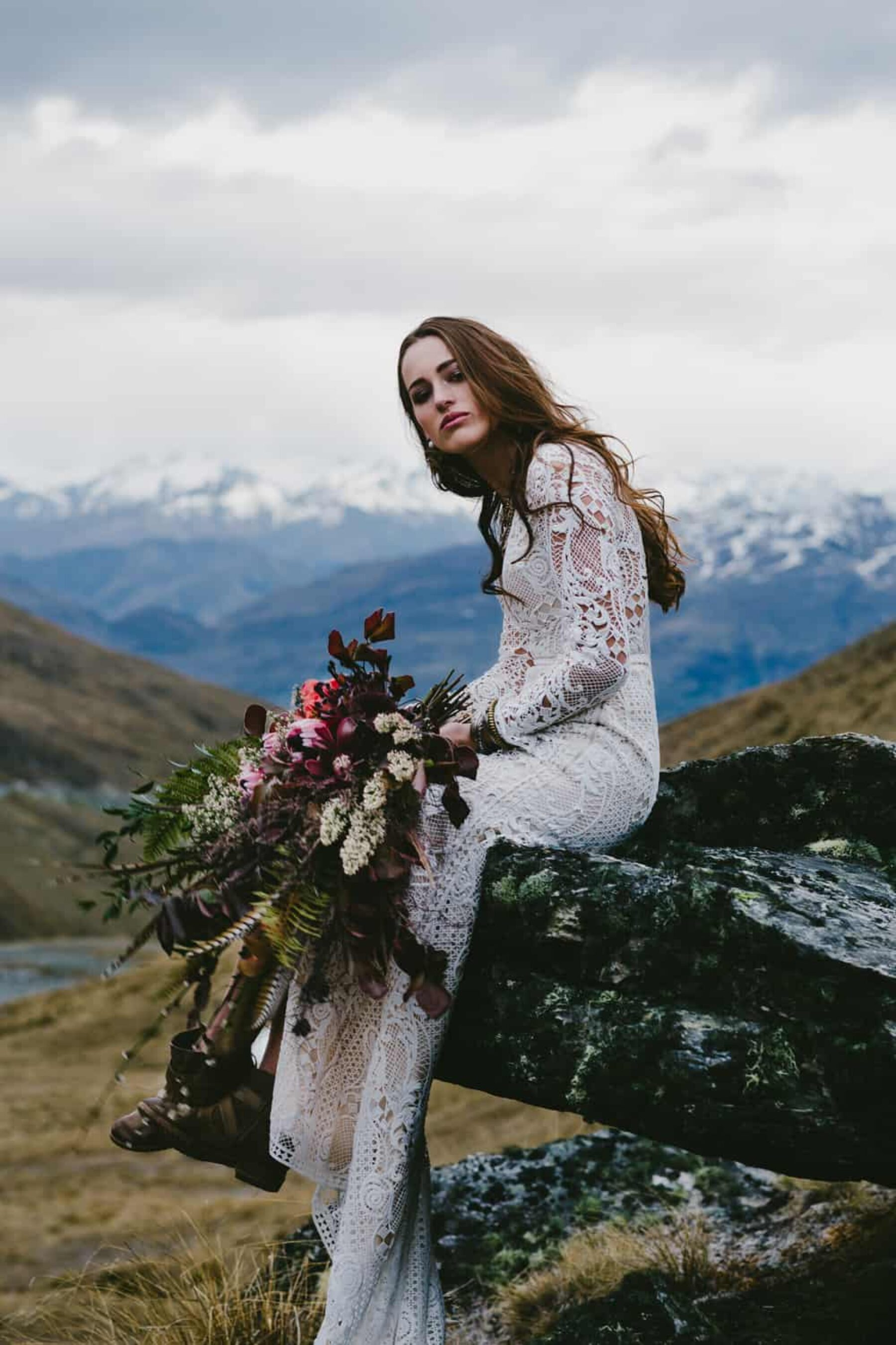 Queenstown mountain wedding - photography by Bonnie Jenkins