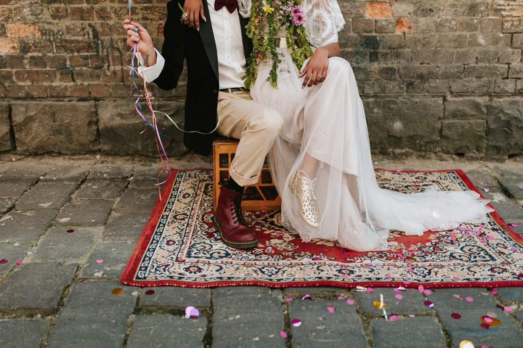 Colour Explosion - vitage/industrial wedding inspiration