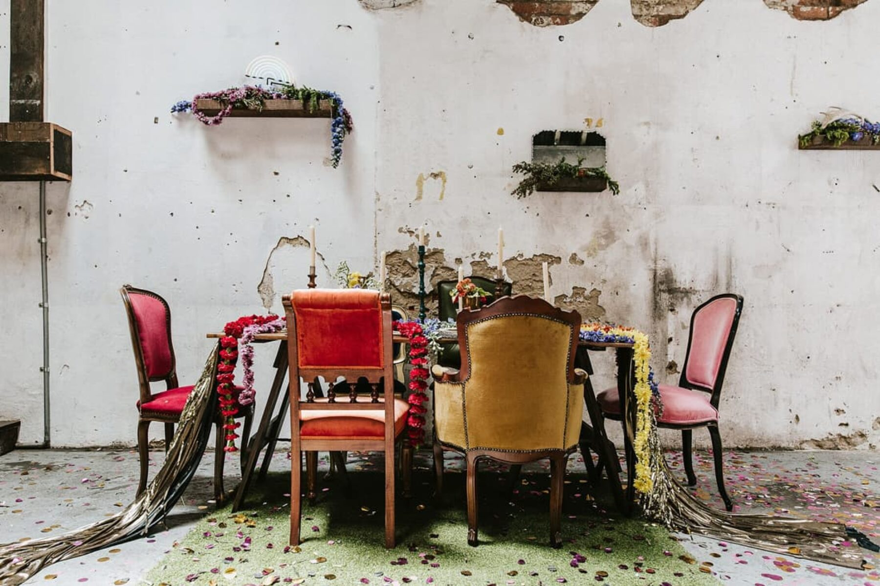 mixed vintage chairs