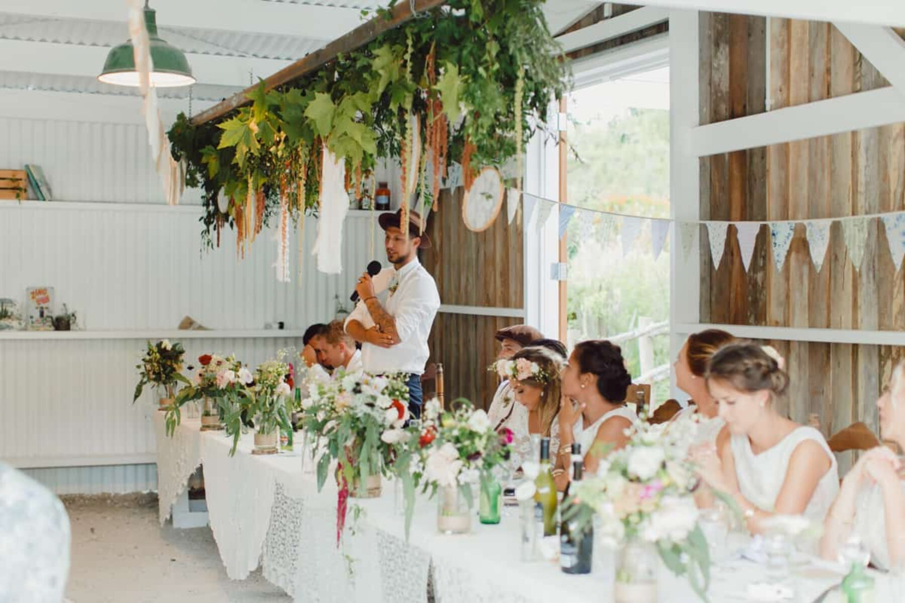 Vintage barn wedding at Old Forest School New Zealand