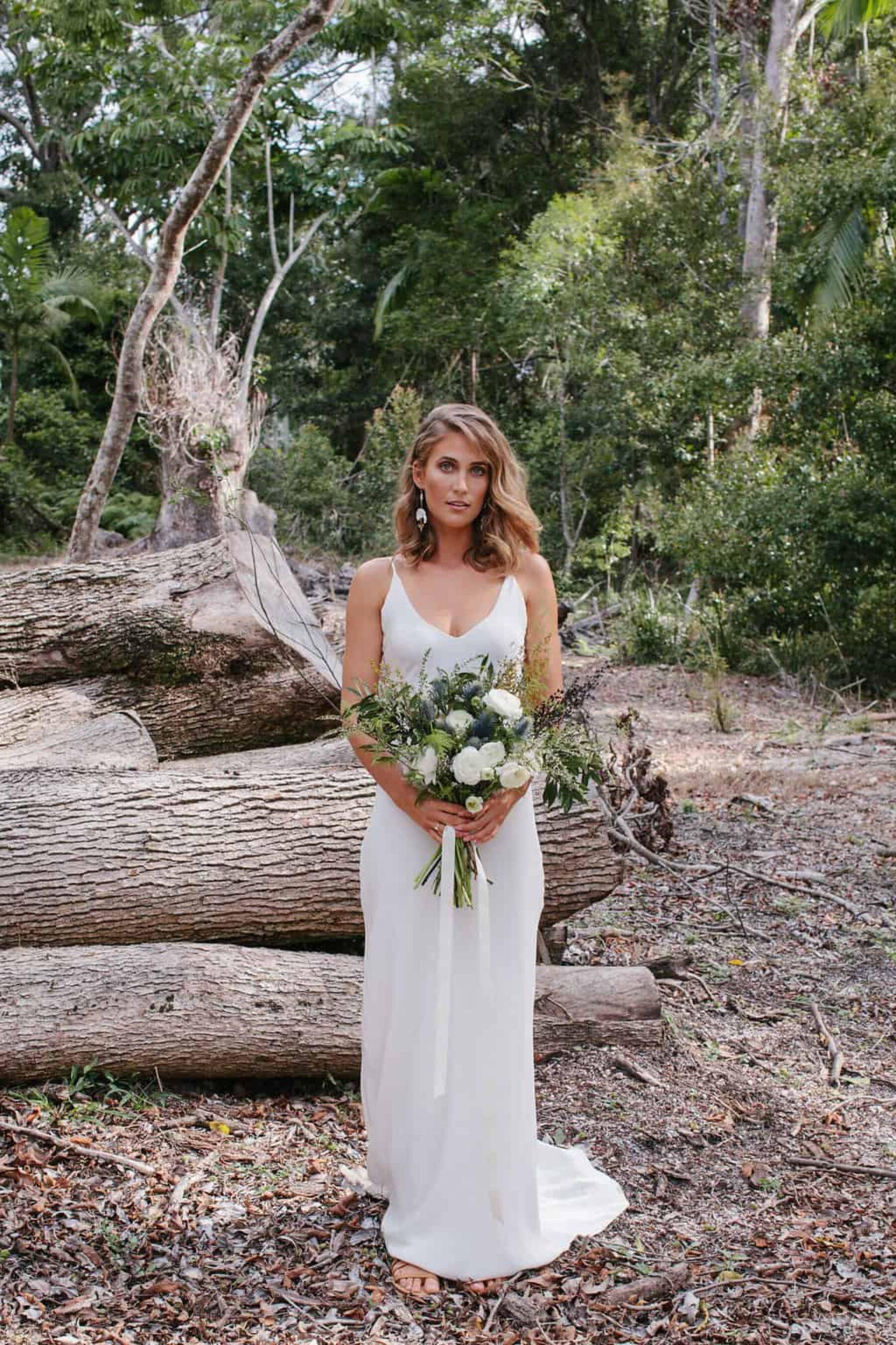 minimal wedding dress by Grace Loves Lace