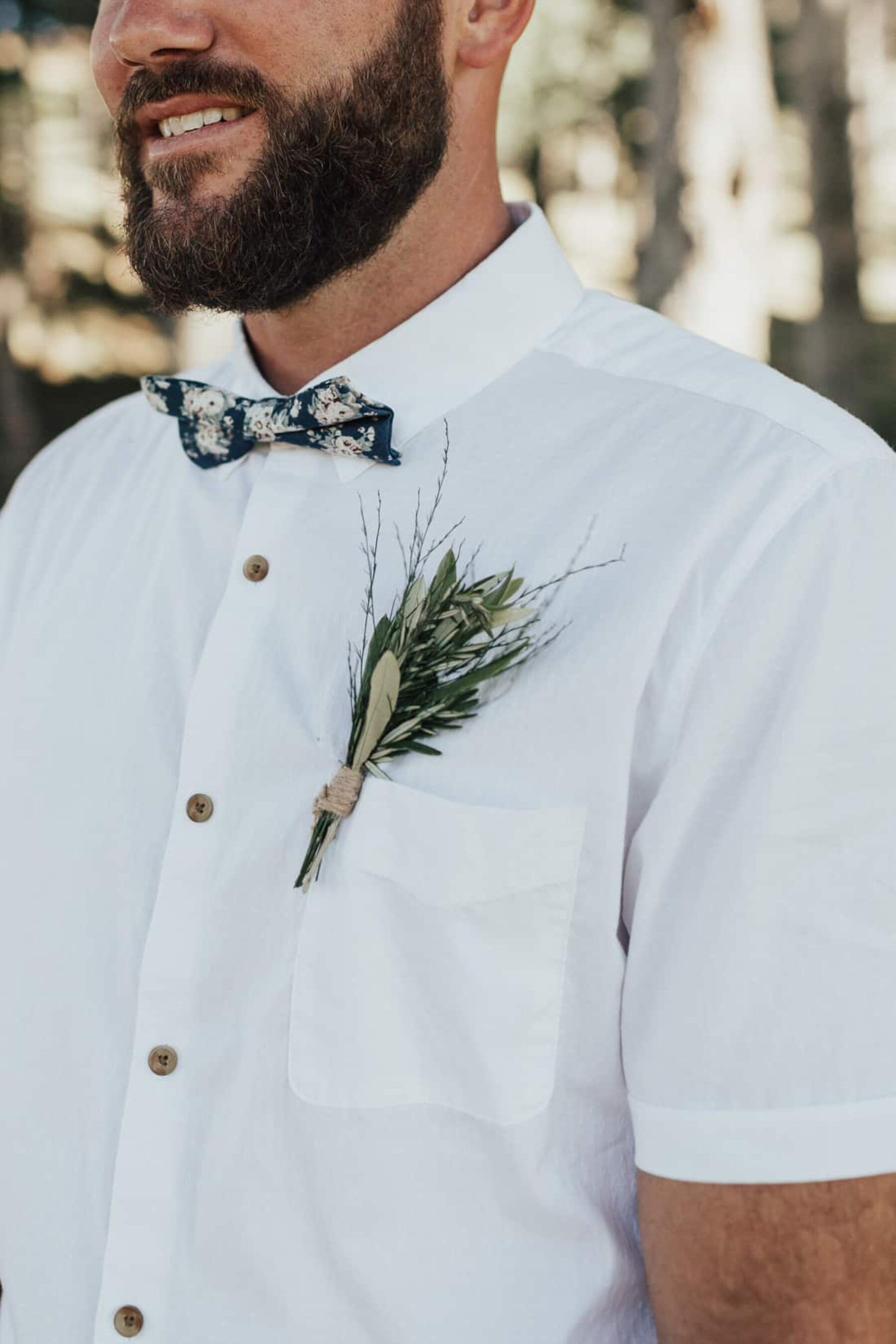 olive leaf boutonniere
