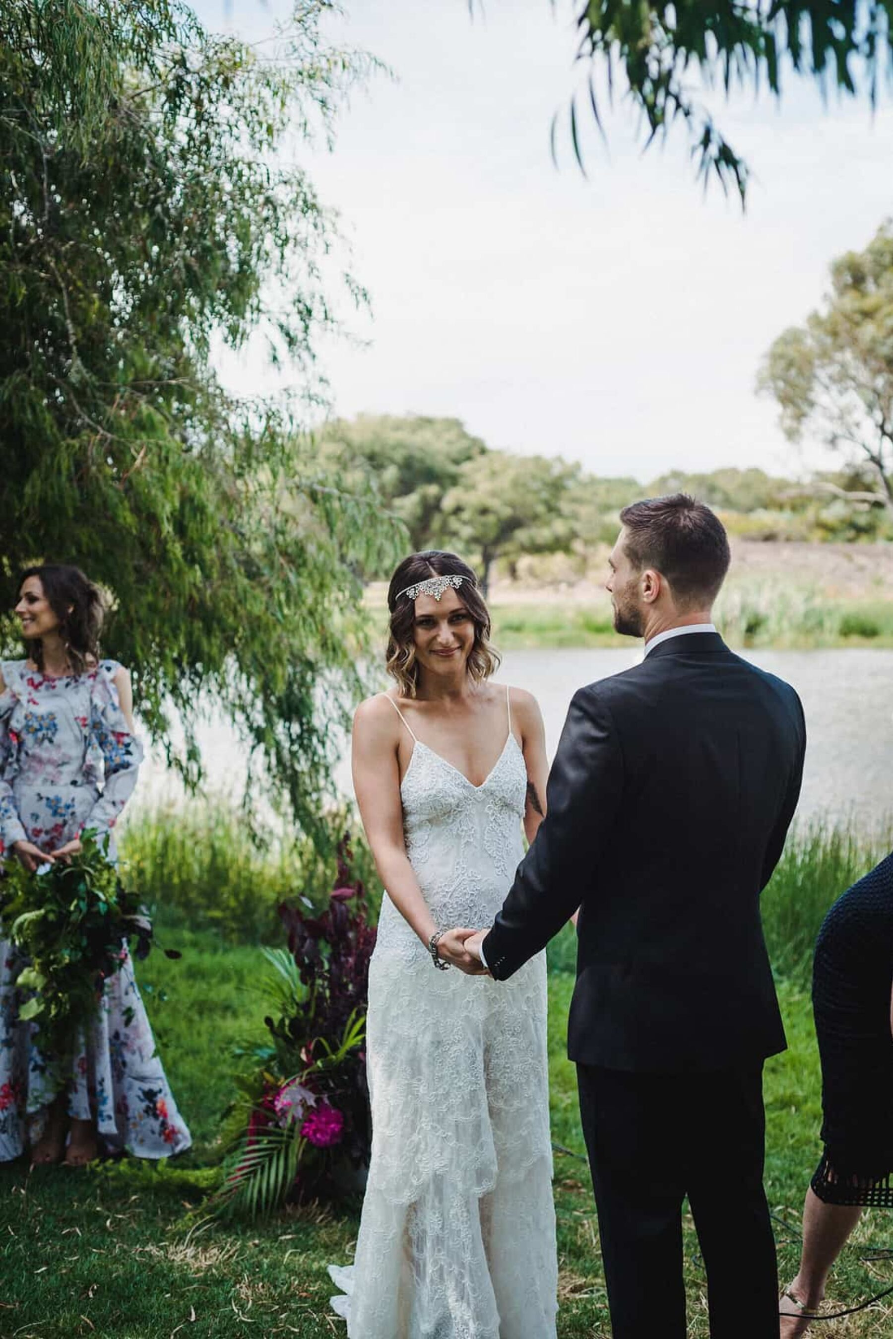 relaxed Perth backyard wedding - CJ Williams Photography