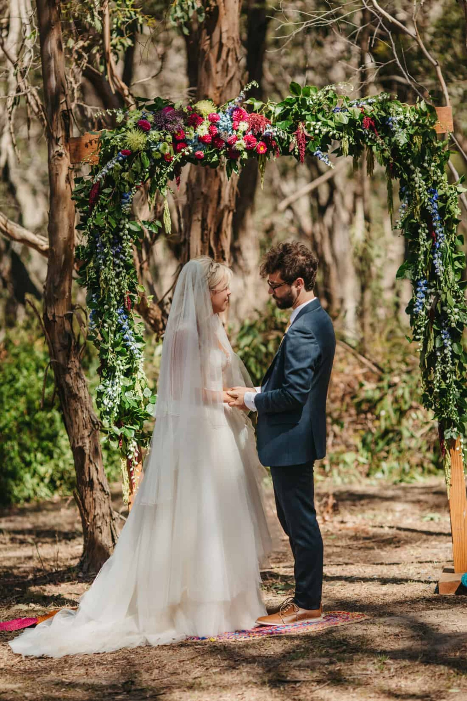 quirky DIY festival wedding in the Otway Ranges VIC