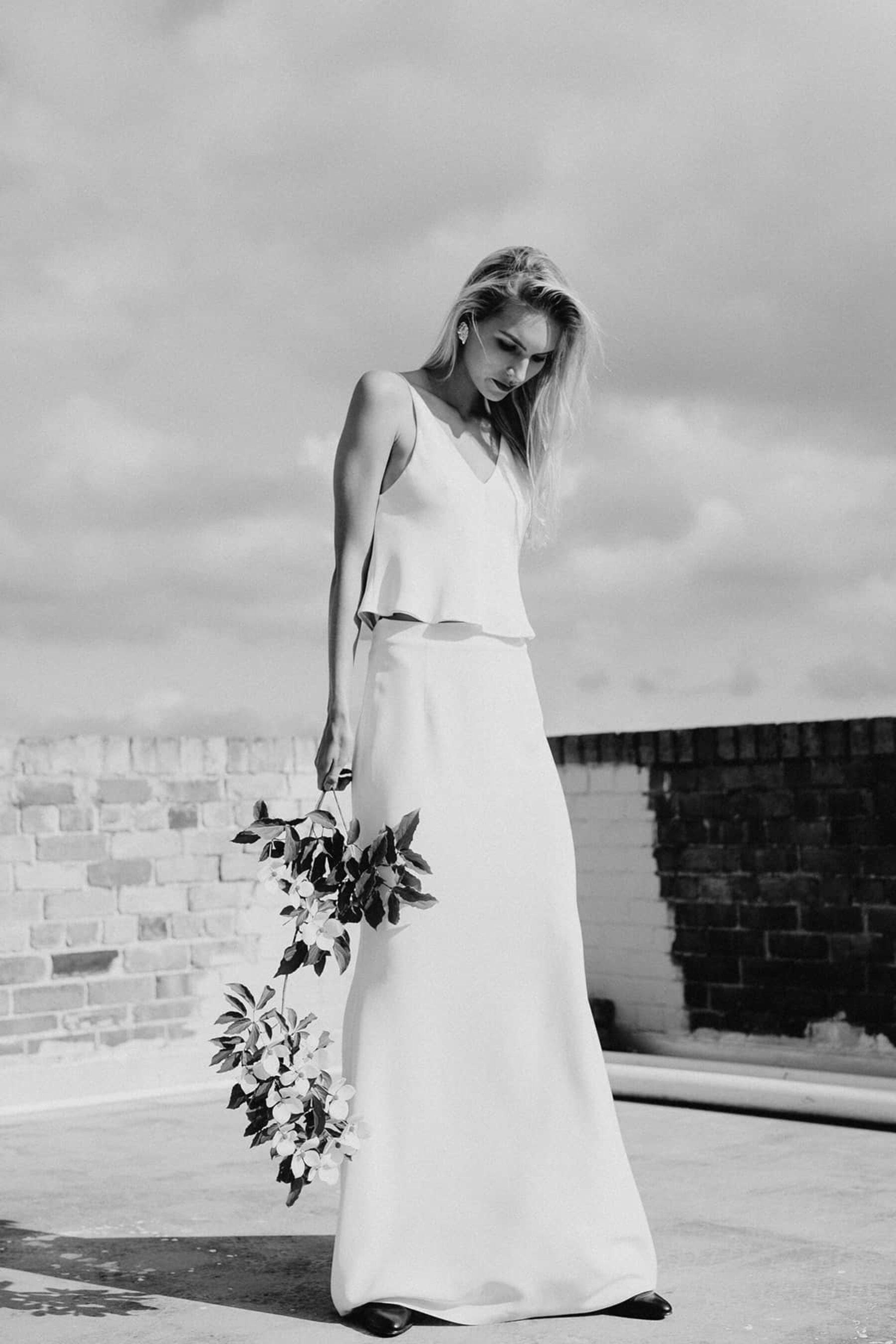 The minimalist bride- Lola Varma top and skirt