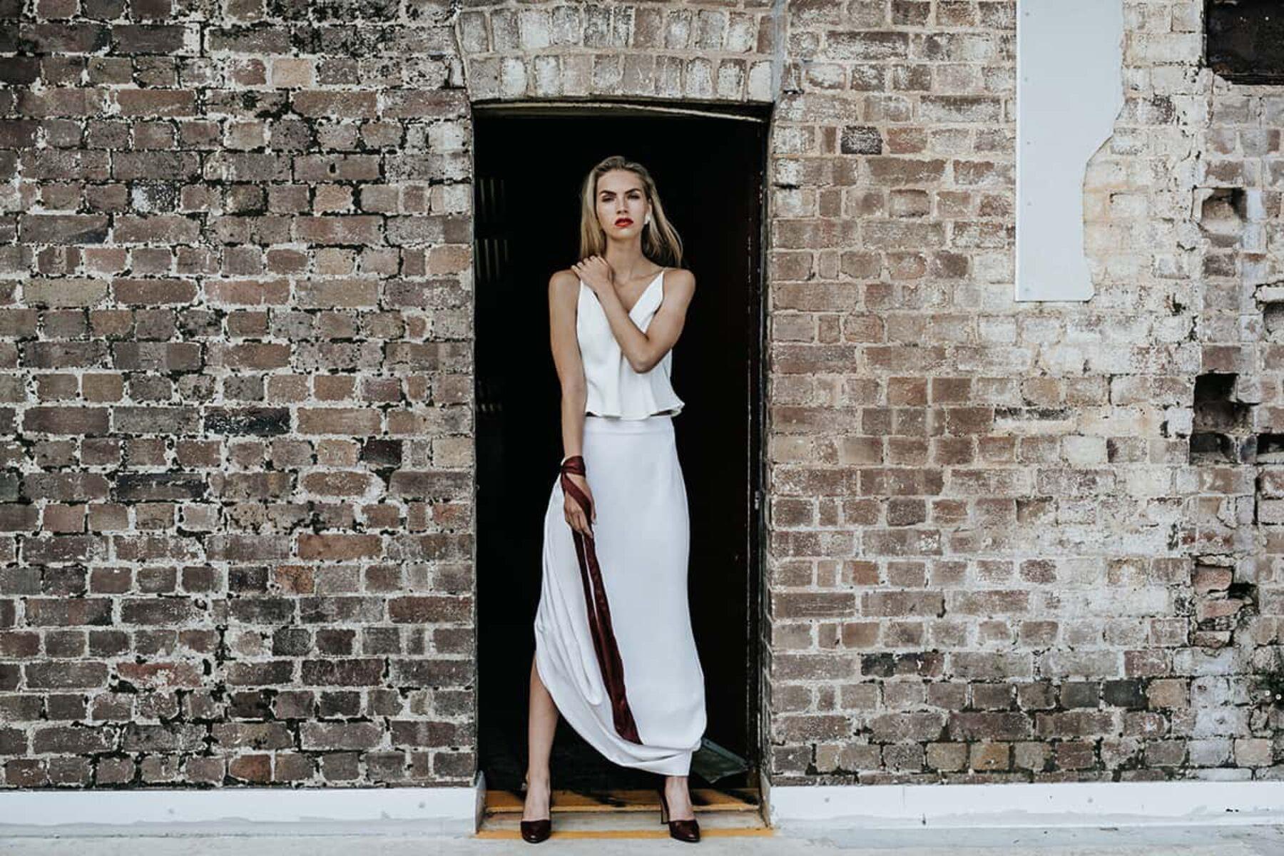 The minimal bride- Lola Varma top and skirt