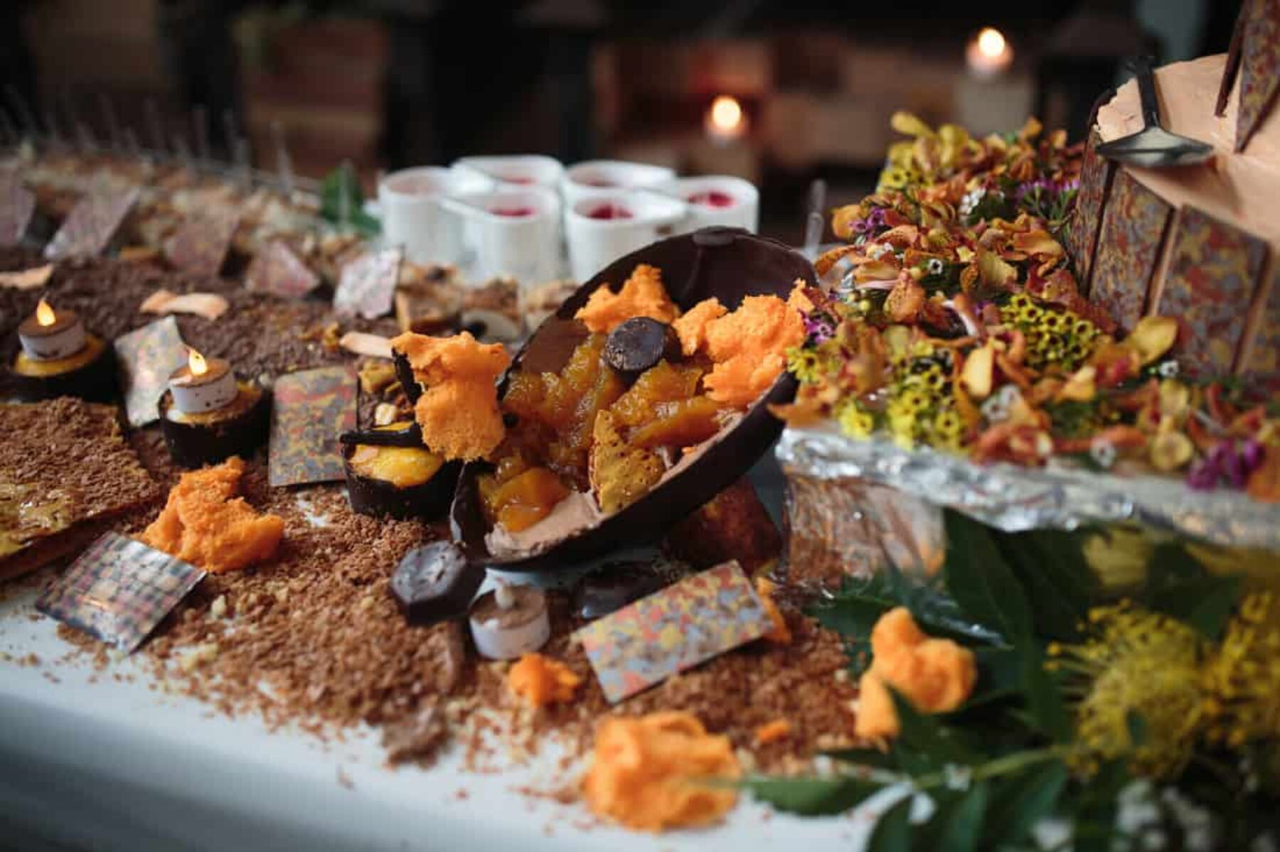 Chocolate tablescape by Robert Erskine