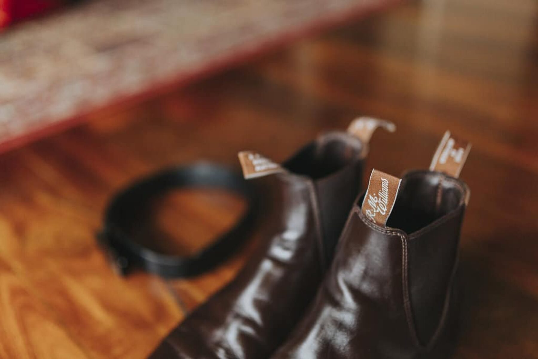 R.M. Williams brown leather boots