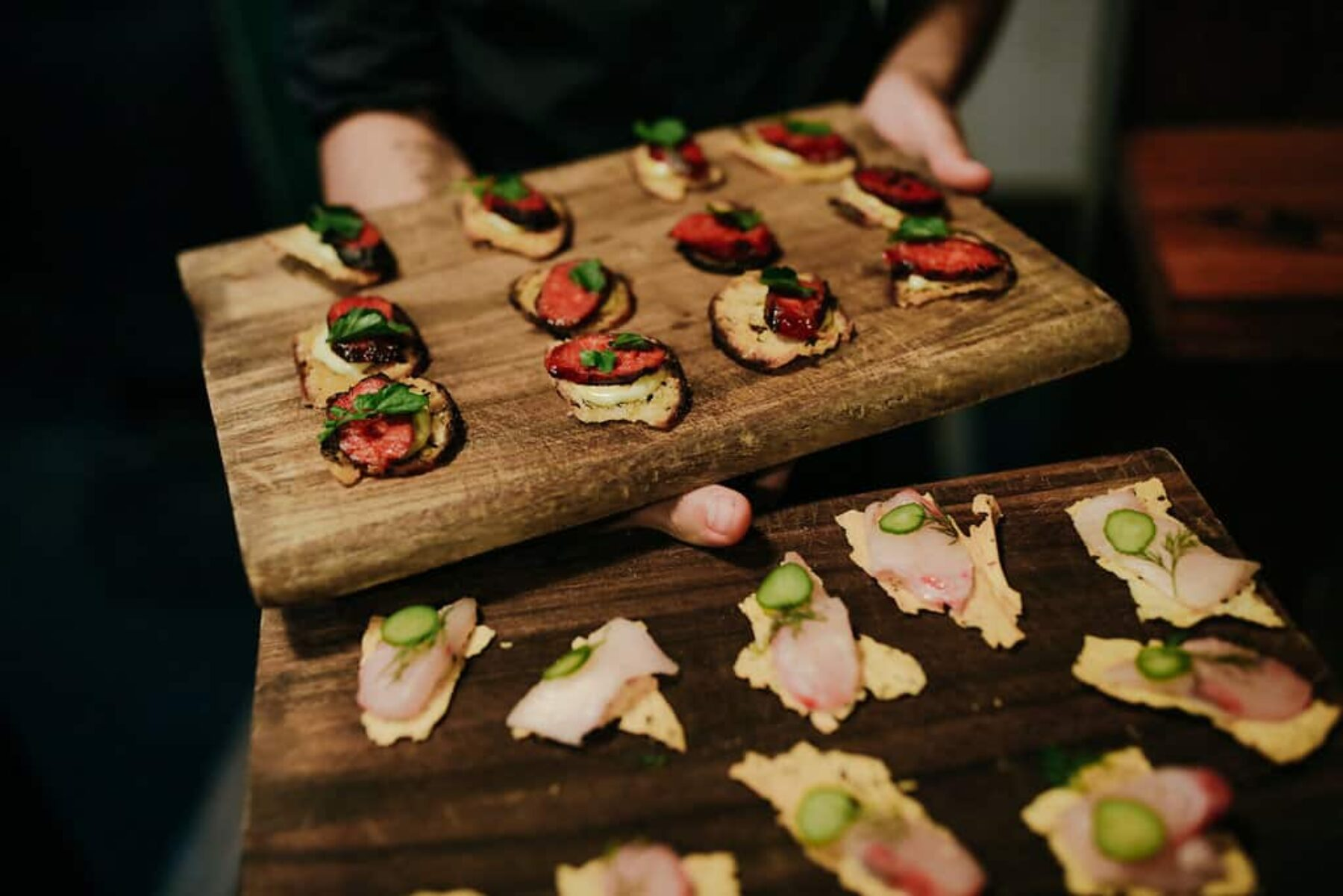 modern canapes at 4Fourteen Surrey Hills