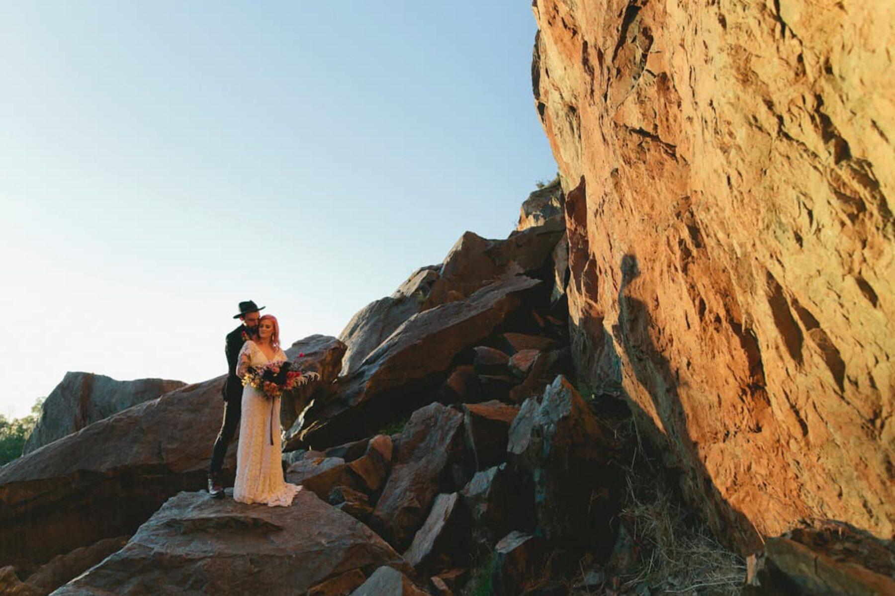 Rock n roll meets desert luxe - glamping wedding inspiration