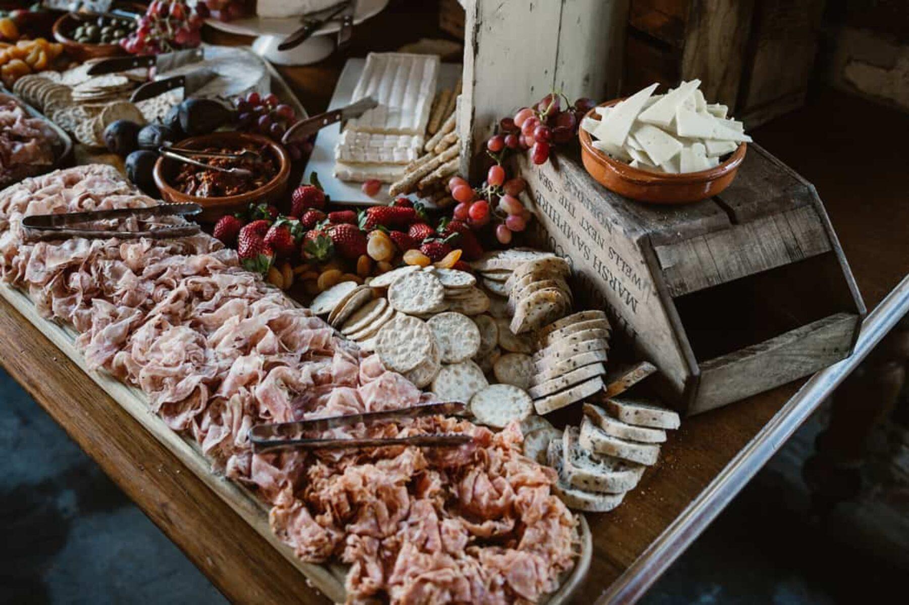 antipasto feasting table