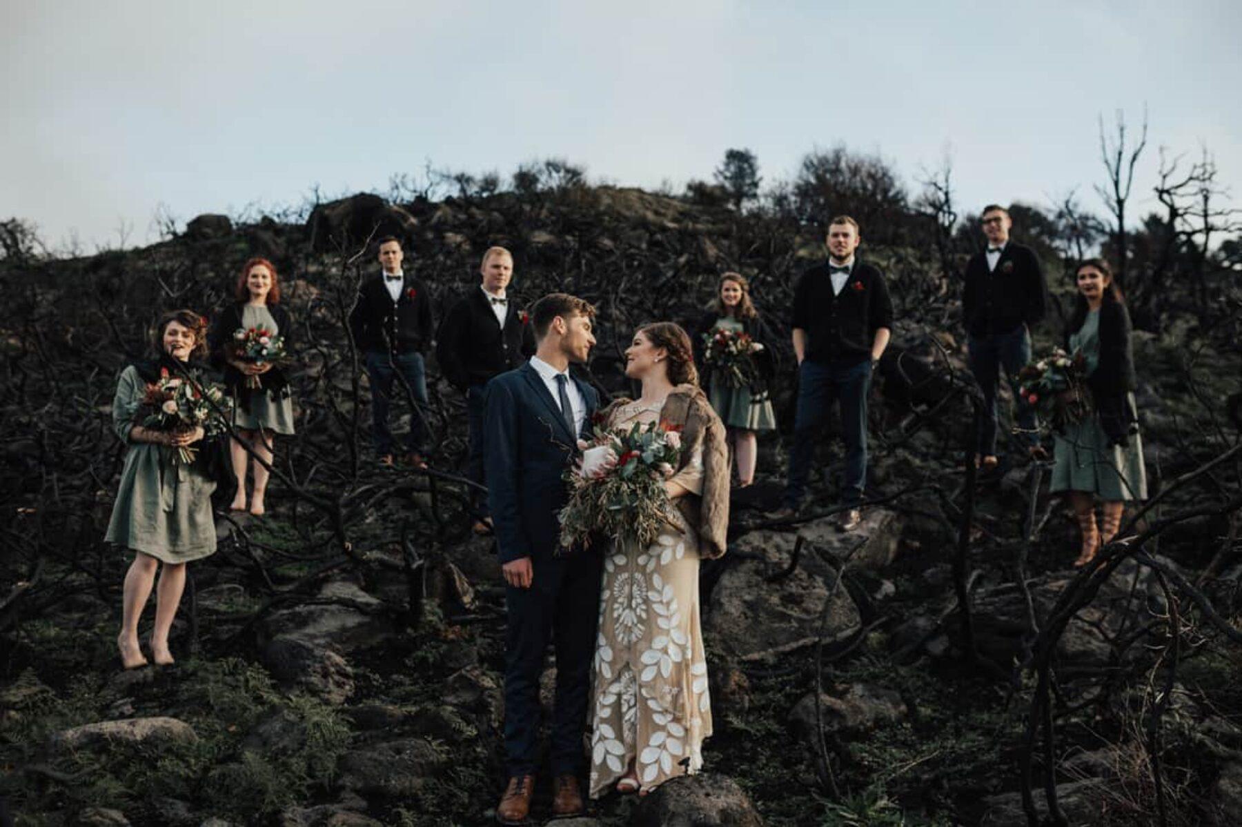 botanical winter wedding in Christchurch NZ