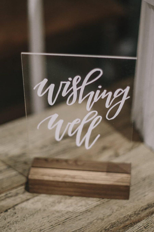 modern perspex wedding signage
