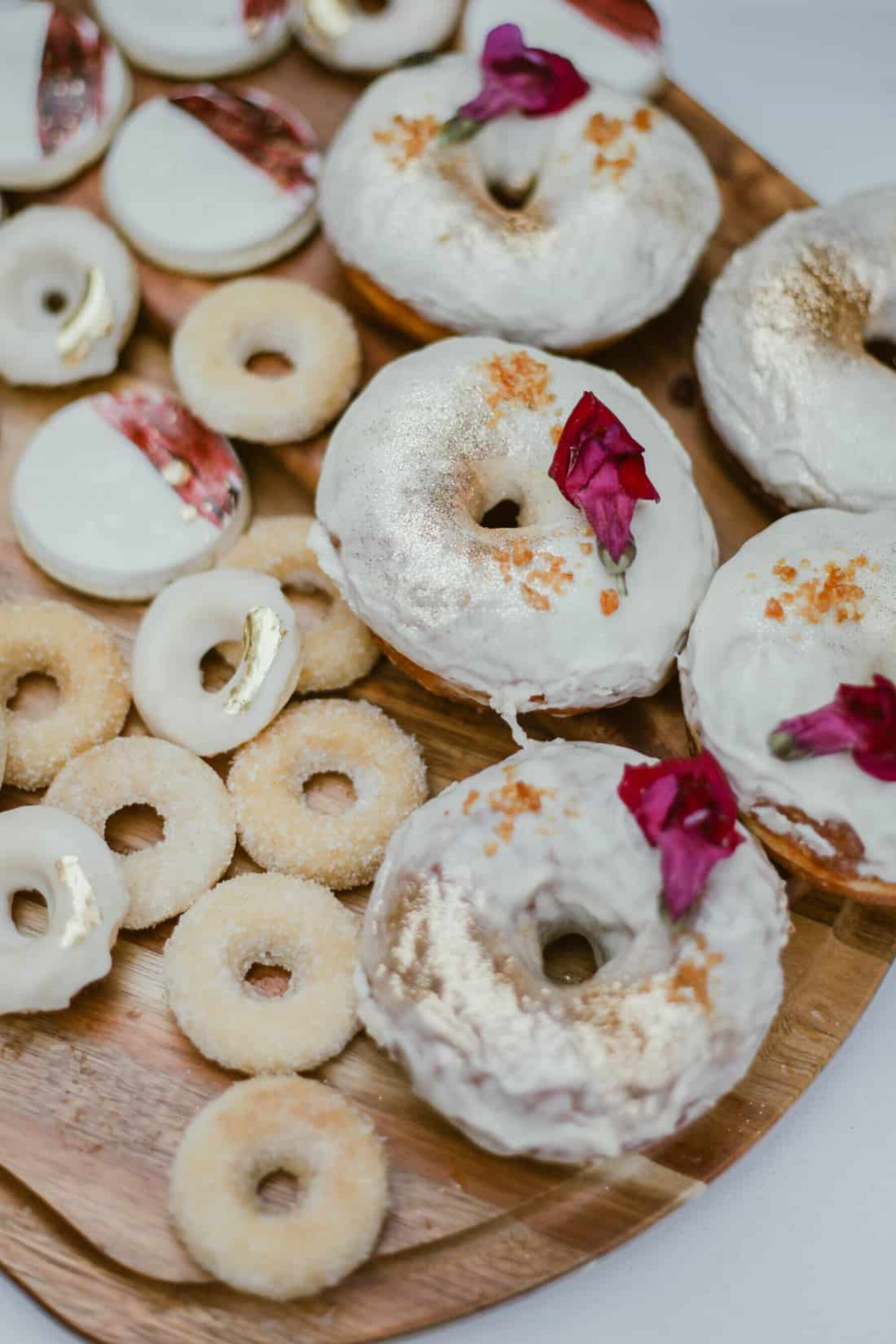 dusted donuts with gold foil
