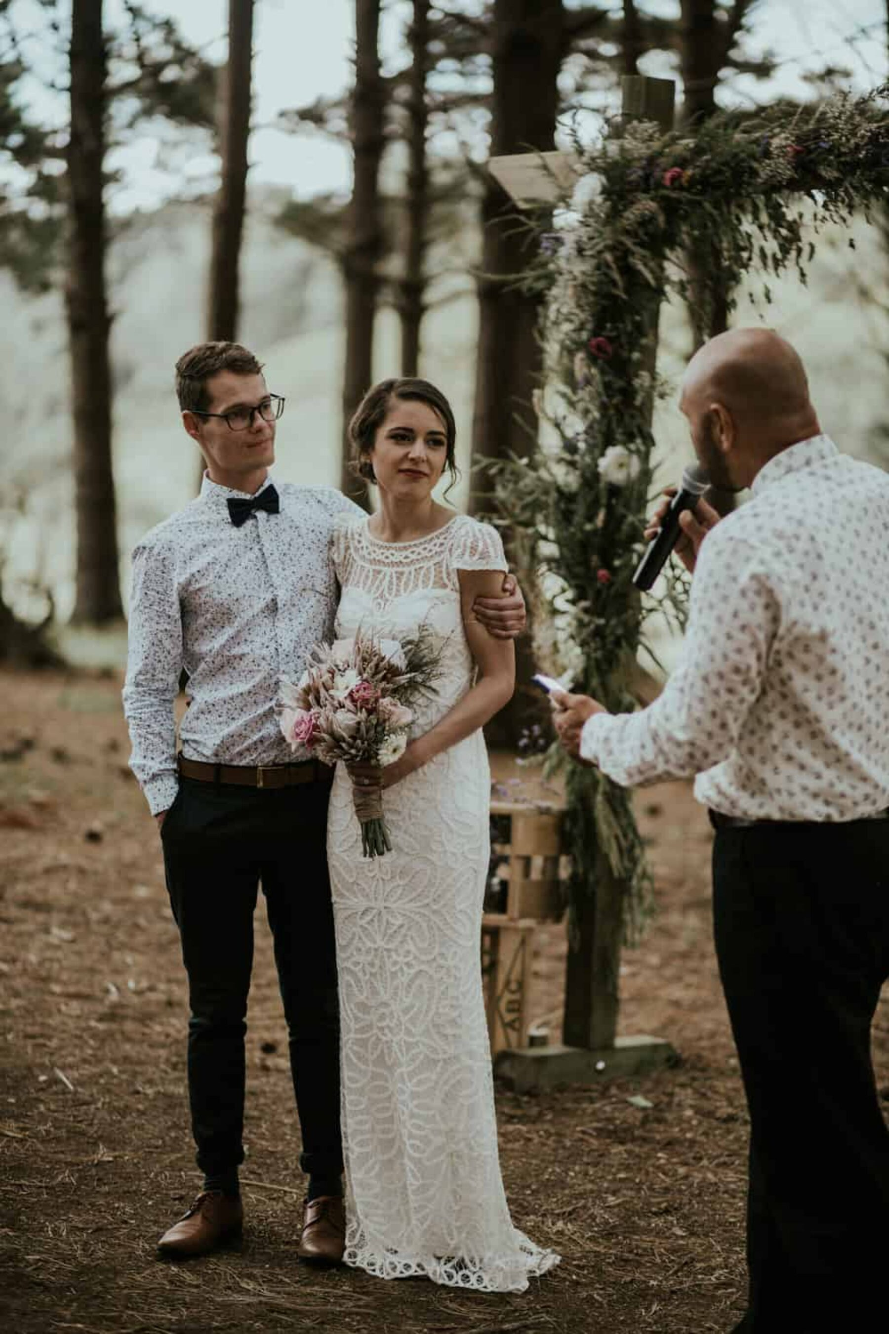 Best of 2017: Groom Style | floral shirt and bow tie