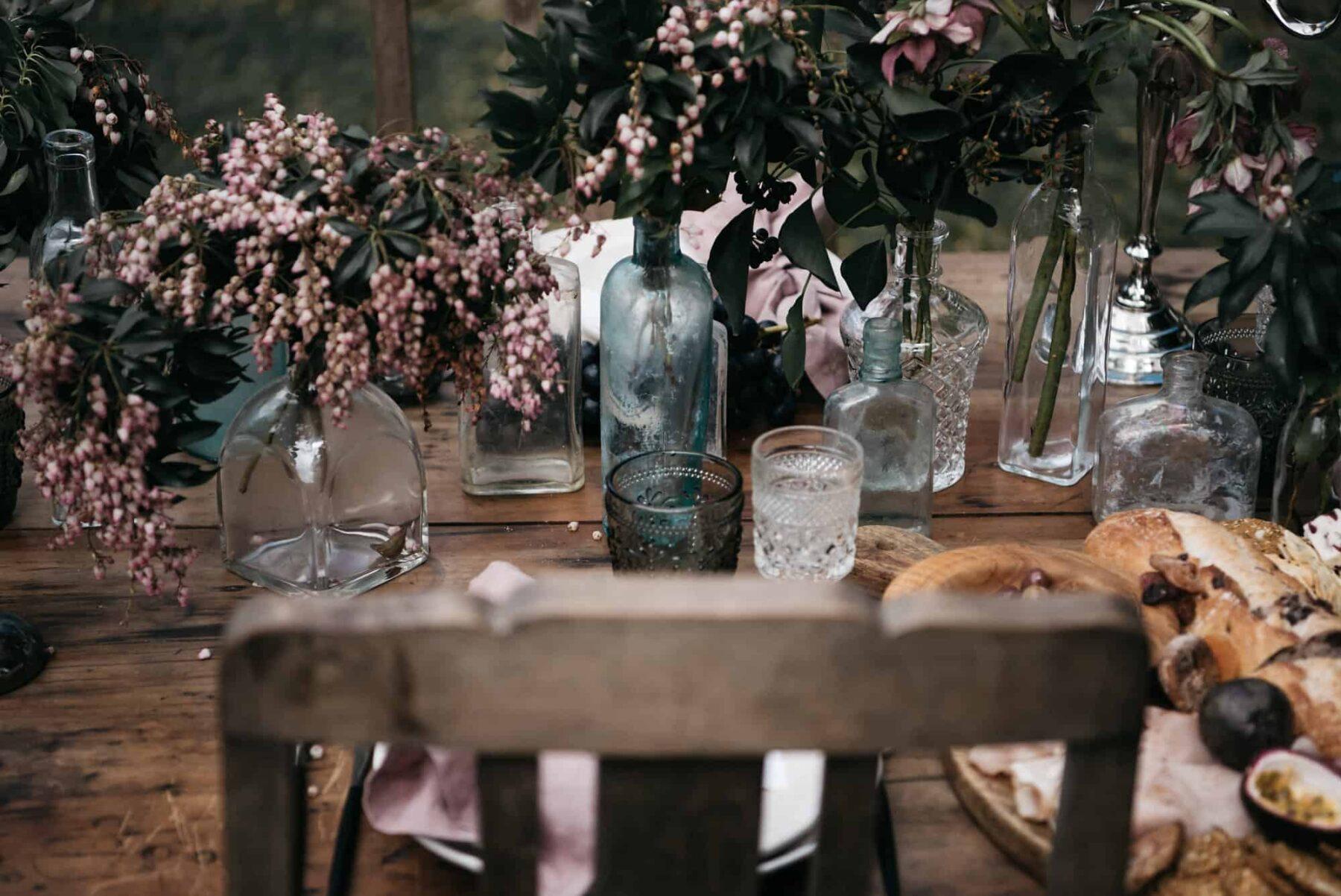 Textural tablescape in rich, warm tones