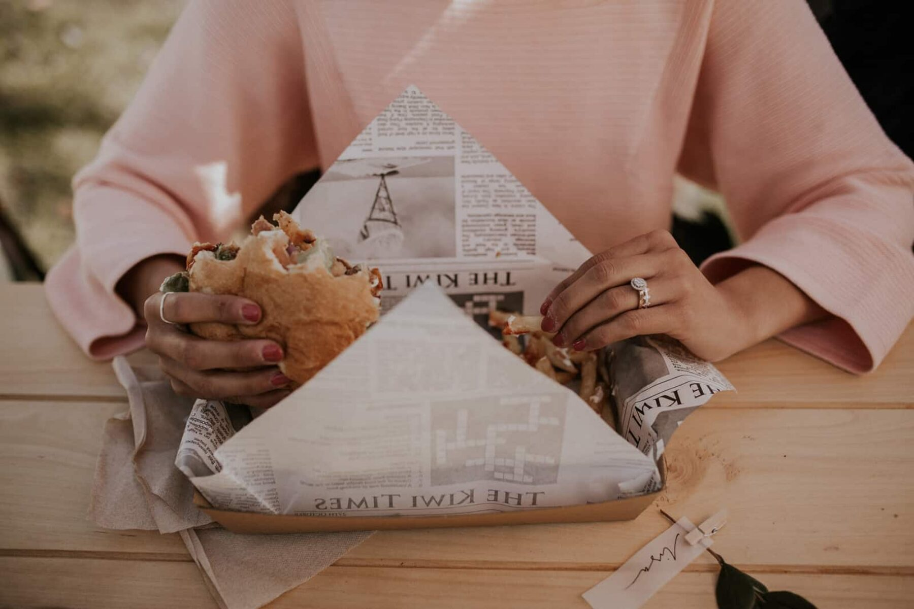 Auckland food truck wedding with TAG Burger