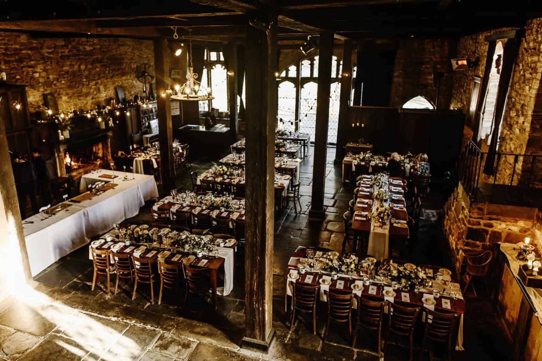 Harry Potter inspired wedding in Montsalvat's Great Hall