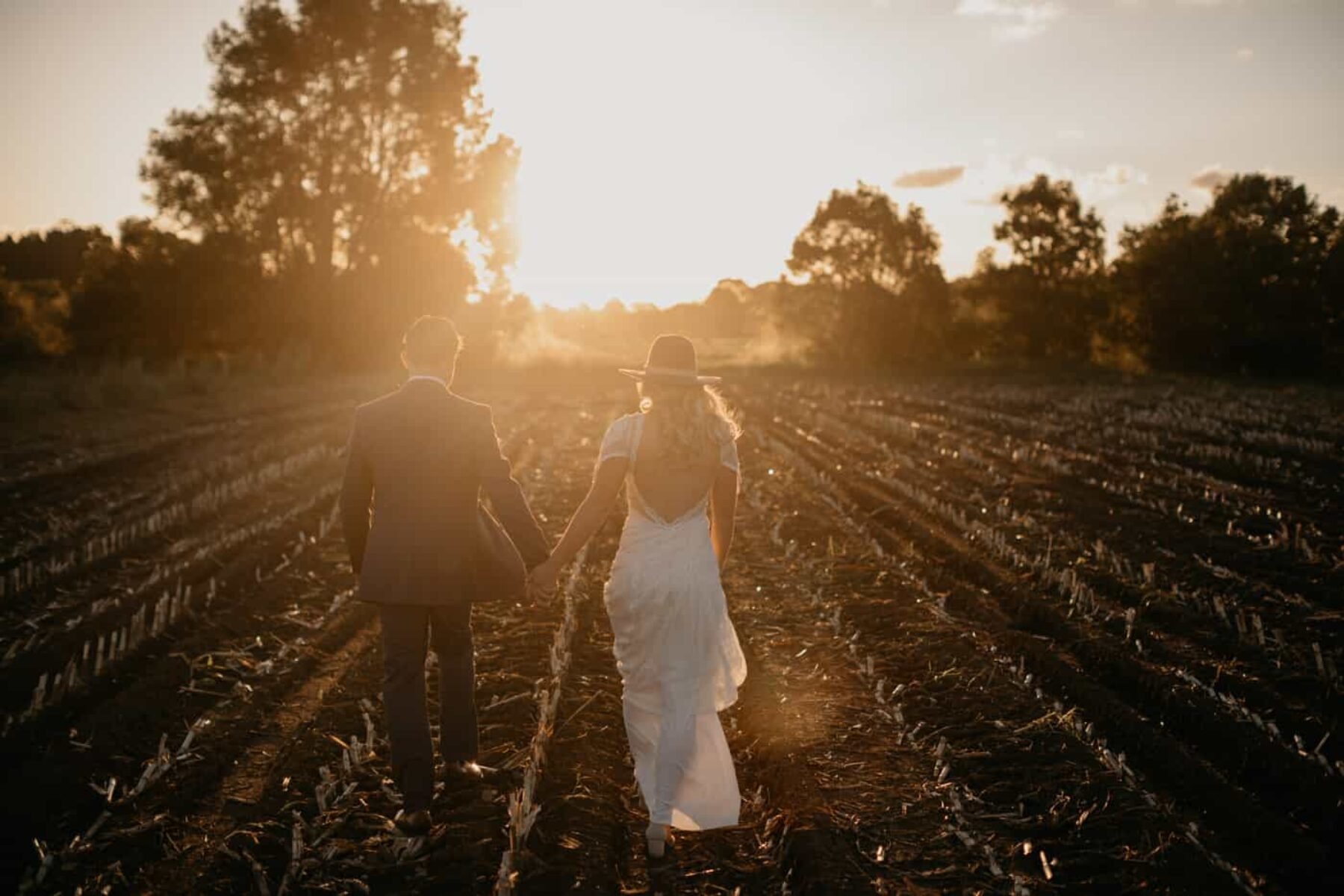 sunset wedding portraits by Mitch Pohl photography